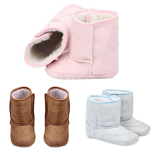Doinshop Cute Baby Boys Girls Shoes Toddler Winter Snow Warm Boots