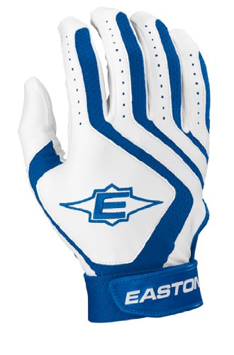 Easton Typhoon II Batting Gloves, White/Royal, Small,One Pair (Slow Pitch Batting Gloves compare prices)