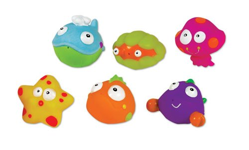 Small World Toys All About Baby Bath - Sea Life Squeezy-Squirters, Set Of 6 front-874366