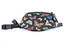 Chira Designs Butterfly Toss fabric Fanny Pack - Waist pack
