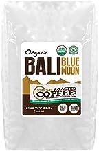 Bali Blue Moon Organic Rain Forest Alliance Whole Bean coffee Fresh Roasted Coffee LLC 2 lb