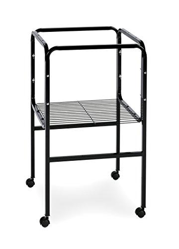 prevue pet products bird cage stand with shelf black animals supplies supplies supplies cages. Black Bedroom Furniture Sets. Home Design Ideas