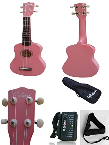 coban-ukulele-in-2-great-colours-red-or-pink-includes-10mm-padded-bag-strap-strap-colour-is-random-m