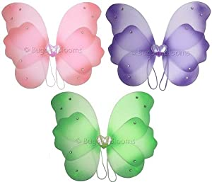 Green Layered Nylon Butterfly Dress Up Fairy Wings toddler princess girls party dress-up costume apparel