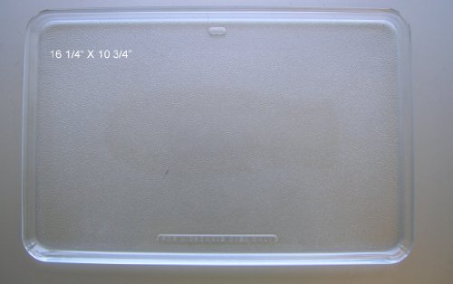"Ge Microwave Oven Glass Plate / Tray 16 1/4"" X 10 3/4"" Wb48X194"