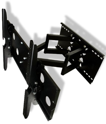 Heavy Duty Dual Arm Full Motion Wall Mount Fits (46 47 50 55 60 65 70)Inch Tv Universal For Lcd Led Plasma Hdtv