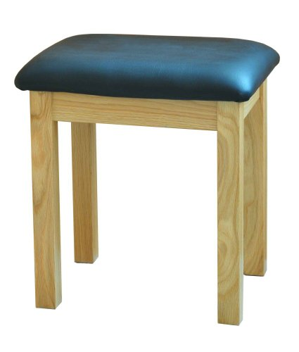 Morriswood Modern Oak Range Dressing Table Stool, 1-Piece, Oak