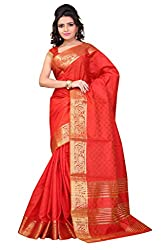 Sanju Radiant Red Art Silk Traditional Wear Saree for Women