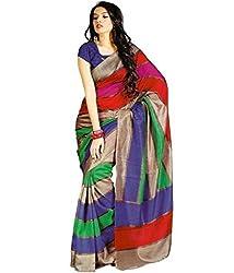 Geet Fashion Solution Women's Cotton Saree (RHV239AB_Multicolurs)