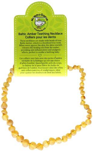 "Momma Goose Baroque Teething Necklace, Unpolished Lemon, Small/11-11.5"""