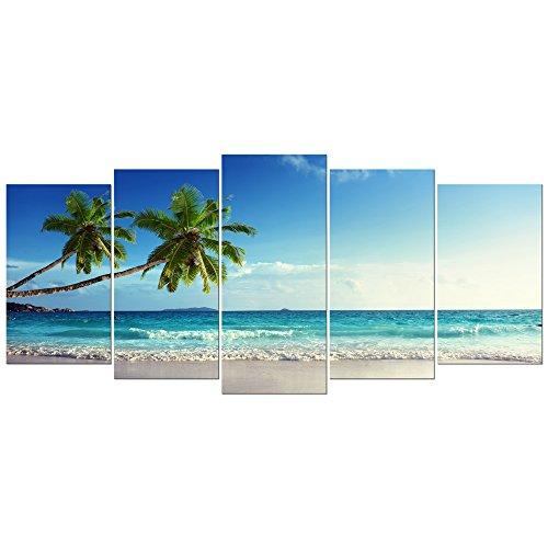 Wieco Art Large Size Sea Beach Theme Modern Giclee Canvas Prints ...