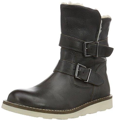 HIPH2245 - Stivali a metà gamba con imbottitura pesante  Bambina, Grigio (Grau (15LE)), 28