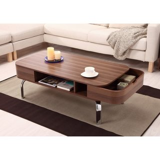 Coffee Table with Built in Storage. Beautiful Contemporary Accent Table That Will Compliment Any Living Space Guaranteed