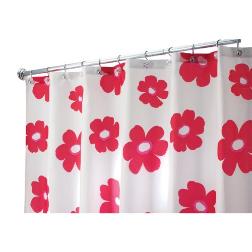 Extra Long Shower Curtain Liner Discount Interdesign Poppy Long Shower Curta