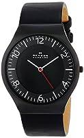 Skagen Men's SKW6113 Grenen Quartz 3 Hand Stainless Steel Black Watch from Skagen
