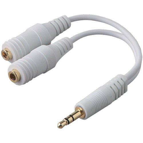 Belkin F8V234-Wht Ipod(R) Speaker/Headphone Splitter (F8V234-Wht)
