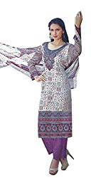 Pure Cotton Printed Lawn Palazzo Unstitched Suit
