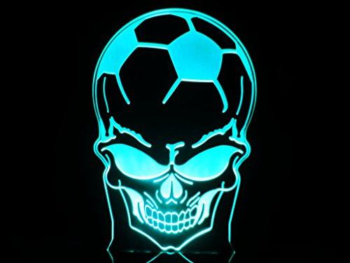 Football Soccer Skulls Head Led Light Desk Lamp Sport Teams Man Cave Halloween Gift Ghost front-1074100
