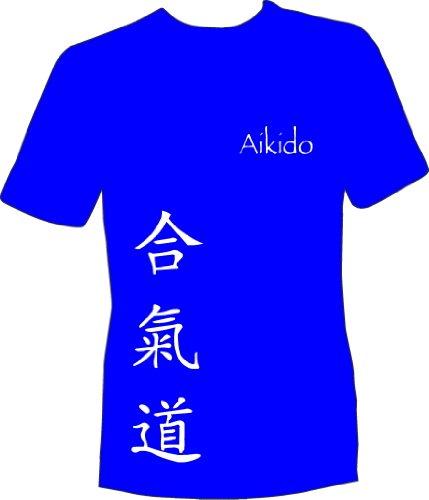 Design-a-tshirtshop Kids T-Shirt Aikido martial arts Size & Colour Options-Royal Blue 7-8