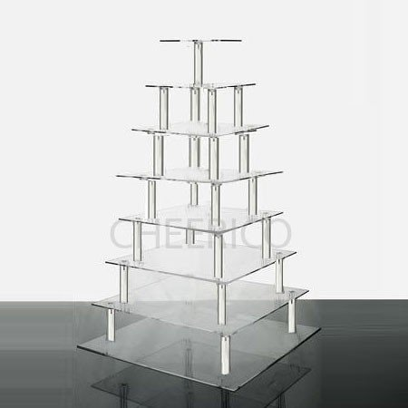8 Tier Large Square Wedding Acrylic Cupcake Tower Cupcake Stand (Bubble Wrap 100 Square Feet compare prices)