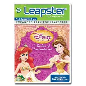 Leapster Leap Frog Disney Princess Worlds of Enchantment Learning Game Pre- K to 1st Grade Ages 4 - 7 years old Math Spelling and Reading Brand New - 1
