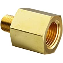 Parker Brass Pipe Fitting, Reducing Adapter, NPT Female X NPT Male