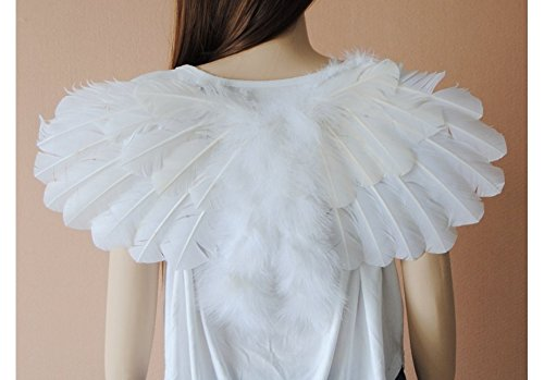 NEW Foldable Feather Fairy Angel Wings Hen Nightt Party Fancy Dress Costume Night Halloween 60x35cm Size
