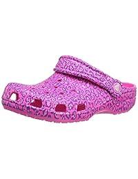 crocs Kids' Classic Leopard Print Clog