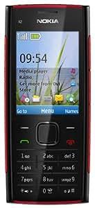Nokia X2-00 Handy (5,6 cm (2,2 Zoll) Display, Bluetooth, 5 Megapixel Kamera) schwarz/rot