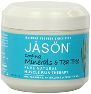 JASON Tea Tree Mineral Cooling and Pain Relieving Gel, 4 Ounce Tub