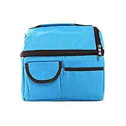 Lunch Box,Nylon Lunch Bag,Fashion Lunch Tote Bag Insulated Lunch Bags Grocery Bags with Zipper