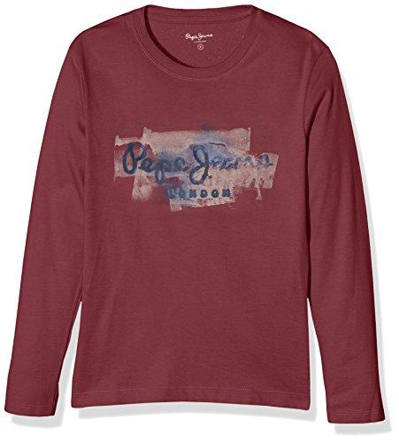 pepe-jeansgolderst-shirtgarconrougeburgundyfr12anstaillefabricant12