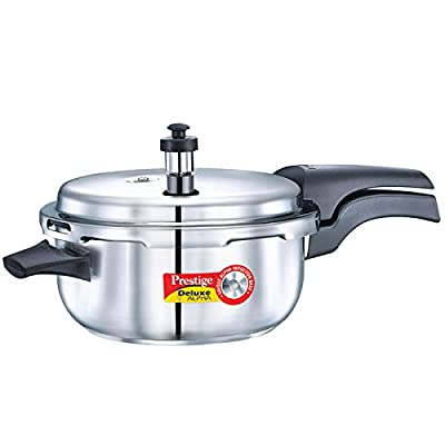 Prestige Deluxe Alpha Stainless Steel Deep Pan Pressure Cooker , 5 Litres
