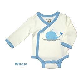 Babysoy O Soy Kimono Bodysuit - Whale-0-3 Months