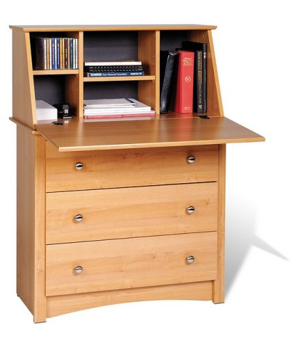 Prepac Maple Secretary Desk