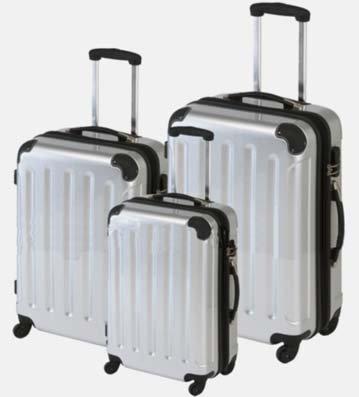 Trolley-Kofferset 3tlg. Ultra-Light - XXL-Volumen