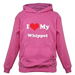 I Love My Whippet - Childrens / Kids Hoodie - 7 Colours - Ages 1-13 Years
