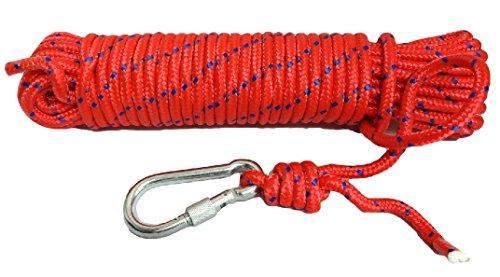 10mm クライミングロープ ザイル 赤 20m ガイロープ 登山 アウトドア