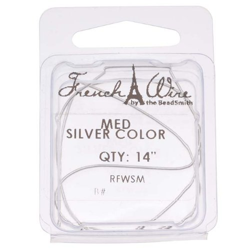 Silver Color French Wire - Medium .9 14 In
