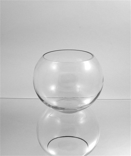 Vases Wholesale Clear Round Bubble Bowl Glass Vase Candle Holder