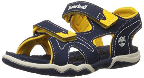 Timberland, Advskr 2Strp, Sandali,Bambino, Multicolore (Navy/Yellow), 25
