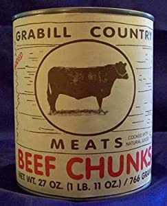 Grabill Canned Boneless Beef Chunks - 27-oz