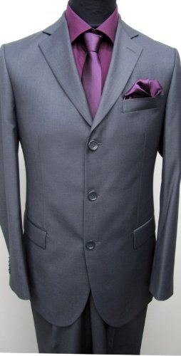 MUGA mens Suit, two pieces, Anthracite/Darkgrey, size 34R (EU 44)