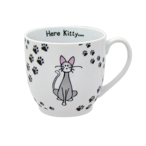 Zrike Brands Here Kitty Mug, Set Of 4