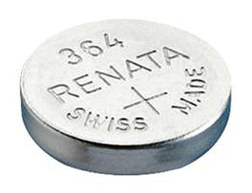 Pile bouton 364 oxyde d'argent 1.55 V 19 mAh Renata 364.CU MF