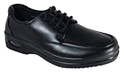 Mens Oil Resistant Anti Slip Restaurant Working Shoes With Air (Acco)) (7, Lace Up)