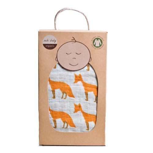 Zebi Baby Swaddle Blanket - Orange Fox