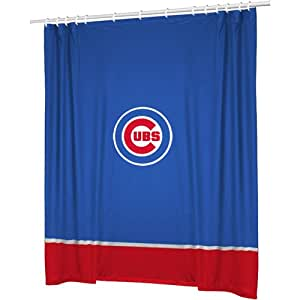 Chicago cubs combo shower curtain 4 pc for Shower curtain savers