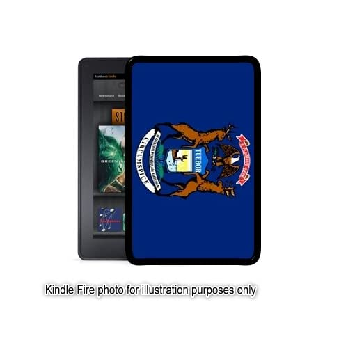 Michigan State Flag Kindle Fire Black Case Cover Skin