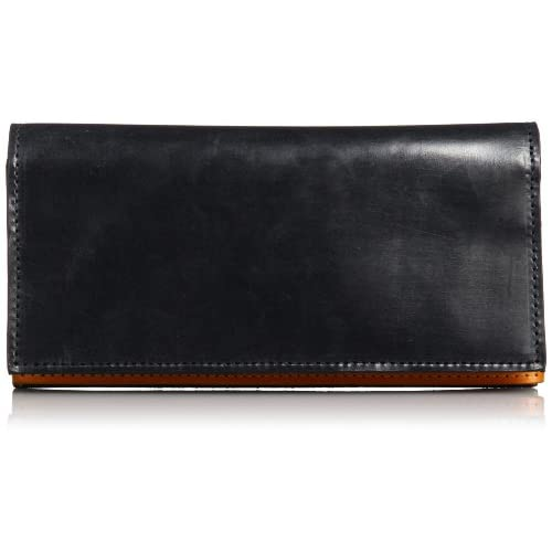 [グレンロイヤル] GLENROYAL 公式 BRIDLE LEATHER LONG WALLET WITH ZIP アマゾン別注長財布 03-5594 NBK×GLD (NEW BLACK×GOLD)